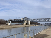 Since yall liked Lockport This is Peoria lock with the interstate in the background