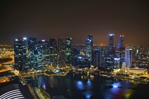 Singapore by night last Saturday