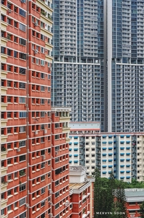 Singapores housing development blocks HDBs