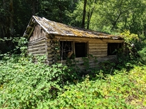 Single room log cabin found in Klamath National Forest California