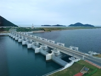 Sinsi sluice gate of Saemanguem Seawall Located at Sinsi island Gunsan city Jeollabuk-do