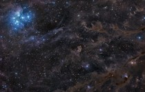 Sisters of the Dusty Sky The Pleiades LBN  VdB  and the variable star RY Tauri