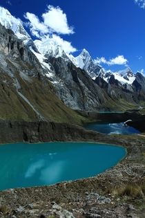 Siula Lakes in the Cordillera Huayhuash Peru