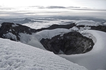 Six-hour climb in the night with ice axe and crampons resulted in this view Volcano Cotopaxi Equador - at sunrise
