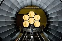 Six of the primary mirrors of the James Webb Space Telescope being prepared for acceptance testing  xpost rTechnologyPorn