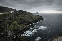 Skellig Cliffs Skellig Island in the background Luke Skywalker hideout Ireland