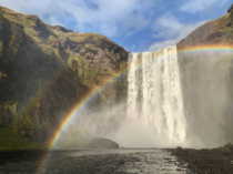 Skgafoss Falls in Iceland If the sun is out so is the rainbow x OC Instagram - DannyDutch
