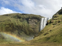 Skgafoss Iceland  peaking around the corner x OC