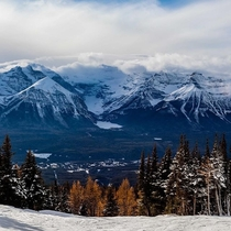 Ski lodge lake Louise Alberta Western Canada OC-