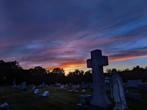 Skies over PA cemetery