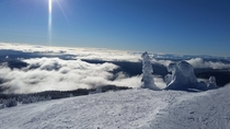 Skiing at the top of the world Sunpeaks BC