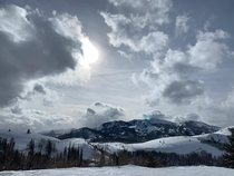 Skiing in Park City Utah when i caught this view