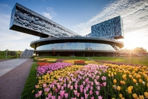 Skolkovo School Campus Moscow The Design is Based on the Picture of Malevich Suprematism by British Architect David Adjaye