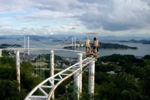 Sky Cycle roller coaster Washuzan Highland Park Japan