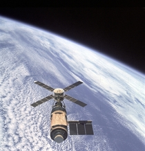 Skylab Over Earth