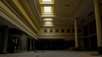 Skylights in an abandoned mall Michigan