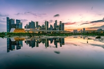 Skyline of Singapore and its reflection Love this city