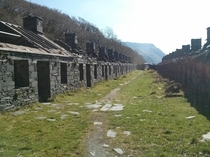 Slate Quarry Barracks in Llanberis Wales