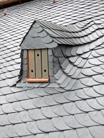 Slate roof on a house in Frankfurt