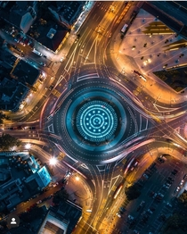 Slavija Intersection - Belgrade Serbia x