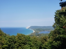 Sleeping Bear Dunes from afar Leelanau Michigan