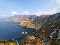 Slieve League Cliffs County Donegal Ireland Almost  times higher than the Cliffs of Moher