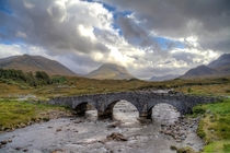 Sligachan Bridge in Isle of Skye Scotland