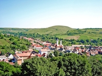 Slimnic Village Sibiu County seen from the fortress Romania