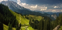 Slopes of the Jenner Mountain Bavaria Germany  Photo by Scorpio