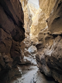 Slot canyons in Anza Borrego State Park California