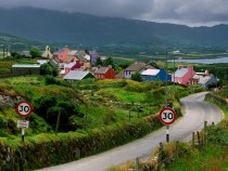Slow through the village of Allihies Ireland