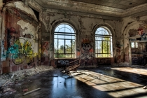 Small auditorium at the abandoned Saratoga County Sanitarium in Middle Grove NY