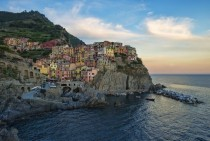 Small coastal village of Manarola Italy