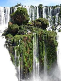 Small Island on Igauzu Falls Parana Brazil
