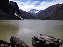 Small Lagoon high in the Andes Central Chile x
