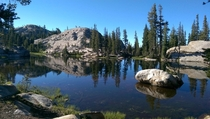 Small lake in Upper Relief Valley Emigrant Wilderness California