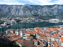 Small medieval town of Kotor Montenegro