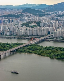 Small uninhabited islands in the middle of the city left as a natural sanctuary Seoul South Korea