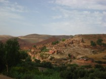 Small village in the Atlas Mountains Morocco