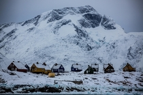 Small village in the fjords of West Greenland