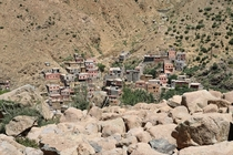 Small Village somewhere in the atlas mountains Marocco