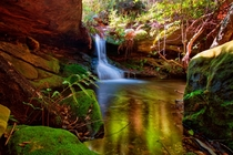 Small waterfall Bundanoon NSW Australia