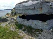Small WW bunker on the coast of a small town north of St johns Newfoundland Canada