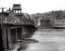 Smithfield Street Bridge and Monongahela Incline Pittsburgh Pennsylvania