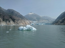 Smoky Skies from Yukon Fires w Conglomerate Iceberg amp Foot of the receding Dawes Glacier Alaska August th