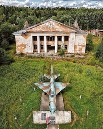 Smuravyovo- Village in Russia Abandoned fighter jet