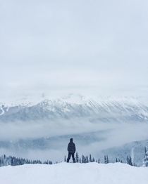 Snoboarding on Whistler Mountain BC Canada