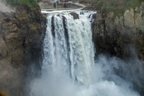 Snoqualmie Falls Washington on a powerful day