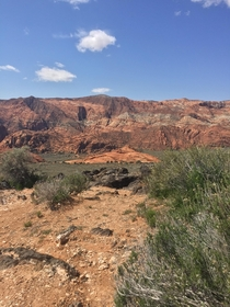 Snow Canyon St George Utah A short hike for this shot