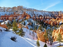 Snow capped Bryce Canyon on Christmas day